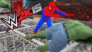 getlinkyoutube.com-WWE 2K15 - HULK VS Spider Man - HELL IN A CELL MATCH