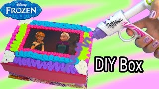 getlinkyoutube.com-Queen Elsa Princess Anna Playdoh DohVinci DIY Disney Frozen Sticker Box Toy Play Doh Vinci Fun Craft