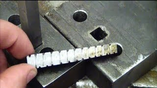 getlinkyoutube.com-Machining 101: How to drill a square hole at home without special tools.