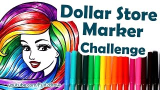 getlinkyoutube.com-How to Colour, Color with $1.25 Dollar Store Markers Challenge