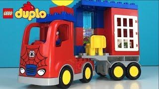 getlinkyoutube.com-LEGO DUPLO MARVEL SPIDER MAN SUPER HERO SPIDER TRUCK ADVENTURE WITH GREEN GOBLIN MONEY BANK AND JAIL