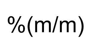 Imagen en miniatura para Porcentaje masa - masa (% m/m)