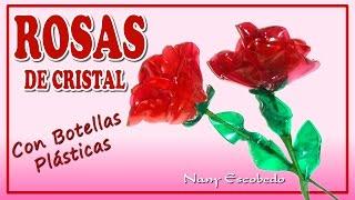 ROSAS DE CRISTAL CON BOTELLAS PLÁSTICAS