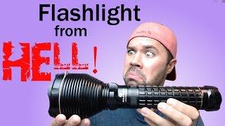 The Brightest Flashlight!  Olight SR90 Intimidator Review