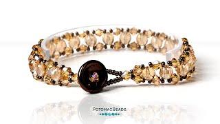 getlinkyoutube.com-How to Make a Diagonal Stitch Bracelet (Beadweaving 250)