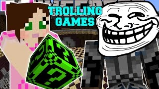 getlinkyoutube.com-Minecraft: CREEPYPASTA TROLLING GAMES - Lucky Block Mod - Modded Mini-Game