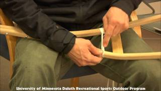 getlinkyoutube.com-How To lace a Ojibway Style Snowshoe