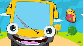 getlinkyoutube.com-Wheels On The Bus Go Round And Round | Nursery Rhymes for Children | HooplaKidz