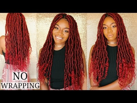 NEW TECHNIQUE FOR GODDESS LOCS! NO WRAPPING! LIGHTWEIGHT | EASY INDIVIDUAL CROCHET #JAZZNICOLEMETHOD