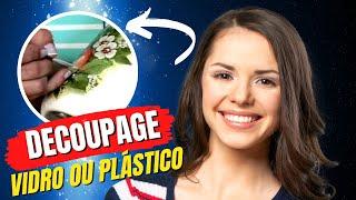 getlinkyoutube.com-Tv Transamérica - Técnica: Decoupagem em plástico ou vidro com relevo
