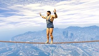 getlinkyoutube.com-NO ONE CAN SURVIVE THIS IMPOSSIBLE TIGHTROPE! (GTA 5 Funny Moments)
