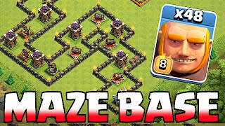 getlinkyoutube.com-Clash Of Clans - GIANT MAZE BASE!! TROLL BASE!! (Speed build)