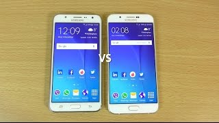Samsung Galaxy J7 VS Galaxy A8 - Speed & Camera Test!