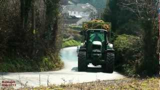 getlinkyoutube.com-John Deere 7530 Thrashing the Hill with Smyth 3-Axle, Fully Loaded..  SOUND UP !