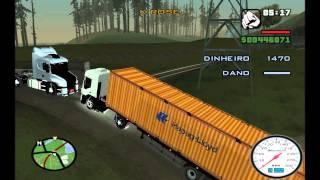 getlinkyoutube.com-Caminhão Carregado com Container Tomba e Caminhoneiro Morre na Explosão - GTA San Andreas