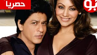 getlinkyoutube.com-شاروخان مع زوجته الحقيقية جوري خان وابنائه