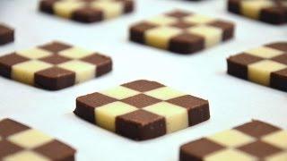 getlinkyoutube.com-How To Shape Checkerboard Cookies