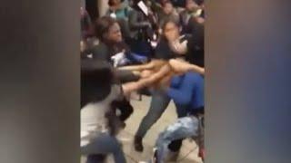 getlinkyoutube.com-30 Girls arrested after school fight over a boy at Pittsburgh University Prep School