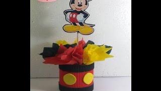 getlinkyoutube.com-Centro de mesa mickey mouse para cumpleaños