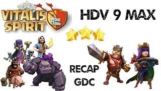 getlinkyoutube.com-[Recap GDC] HDV 9 Max - Attaques 3 étoiles