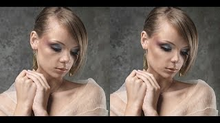 getlinkyoutube.com-Ретушь женского студийного портрета. Видеоурок.