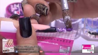 getlinkyoutube.com-ND Nails Design 94-Mariana Flores-GRAPE-Fantasy Nails