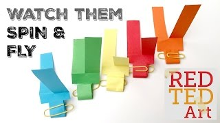 Easy Paper Toys: Paper Helicopter great S.T.E.M. craft