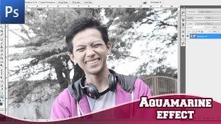 Membuat effect Aquamarine DSLR dengan PhotoShop | HD
