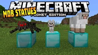 getlinkyoutube.com-MCPE 0.14.3 MOB STATUES!!! - Freezing Mobs Mod - Minecraft PE (Pocket Edition)
