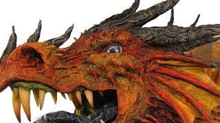 Great Paper Mache Dragon Trophy