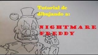 getlinkyoutube.com-Tutorial Dibujo: Nightmare Freddy - Inaguracion del Canal!!!