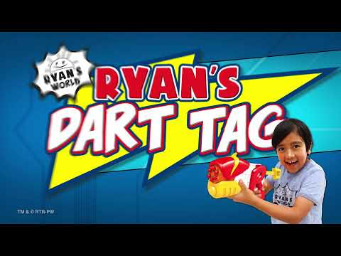Ryan's World Dart Tag Ryan vs Combo Panda 6 Shot Blaster & Targets Pack