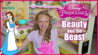 BEAUTY AND THE BEAST Disney Princess Belle Play Kitchen Toy Review for Kids Playtime