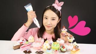 getlinkyoutube.com-캐리의 휘핑아트 장난감 아이스크림 케이크 파르페 만들기 놀이 CarrieAndToys