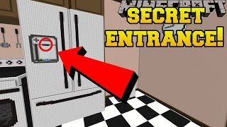 Minecraft: THE SECRET FRIDGE ENTRANCE!!! - Crack The Case - Custom Map [2]