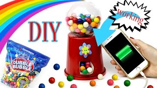 getlinkyoutube.com-DIY Bubblegum Machine Phone Charger! How To Make A {Working} Candy Machine-Cool DIY Crafts-Tutorials