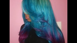 getlinkyoutube.com-HOW TO: Coloful Ombre Hair (EASY)
