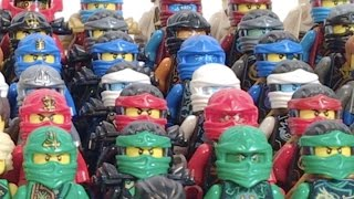 getlinkyoutube.com-LEGO Ninjago COMPLETE Ninja Suit Collection UPDATED!