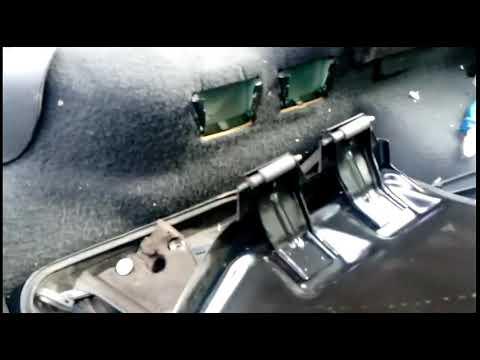 Opel Astra G демонтаж задних сидений!(универсал)