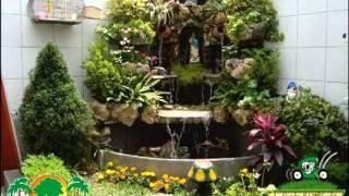 getlinkyoutube.com-cascadas grutas de agua piletas villa grass
