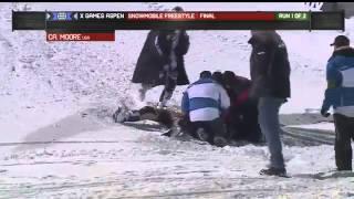 getlinkyoutube.com-Caleb Moore - Snowmobile Fatal Accident Winter X-Games 2013