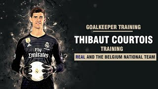 getlinkyoutube.com-Goalkeeper training - Thibaut Courtois training (  Chelsea and the Belgium national team)