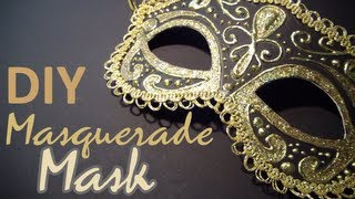 getlinkyoutube.com-DIY: Masquerade Mask (from scratch)