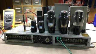 getlinkyoutube.com-Western Electric 142A 142 Tube Amplifier Restoration - BG078