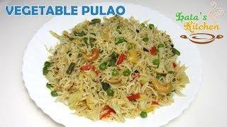 getlinkyoutube.com-Vegetable Pulao Recipe Video ( Veggie Pulav Rice ) — Indian Vegetarian Recipe by Lata Jain