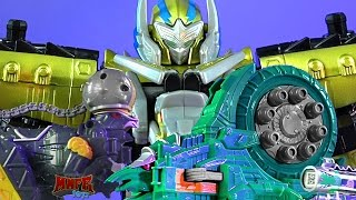 getlinkyoutube.com-Power Rangers Ptera Charge Megazord, Pachy Zord, & Ammonite Zord Review! WINNERS! (Dino Charge toys)