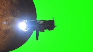 getlinkyoutube.com-Alien Spaceship Sulaco VFX Animation on green screen
