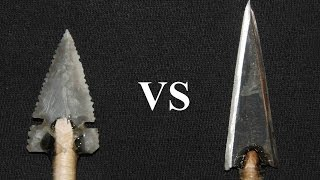 getlinkyoutube.com-Penetration Test: Stone vs Steel Arrowheads on a Deer