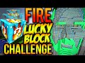 Minecraft FIRE LUCKY BLOCK TEMPLE OF NOTCH PVP CHALLENGE