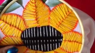 getlinkyoutube.com-# 24 bordado fantasía para centro de girasol con cony